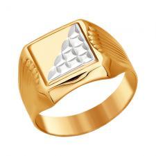 Мужской перстень с печаткой 014097