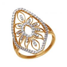 Кольцо из золота с фианитами 015894