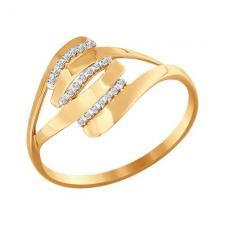Кольцо из золота с фианитами 016603