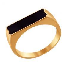 Печатка из золота с эмалью 016716