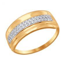 Кольцо из золота с фианитами 016773